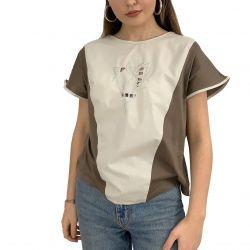 Women Short Sleeve T Shirt Loose Fit Vintage T-shirt for Ladies Sexy Vintage Blouse TLS208