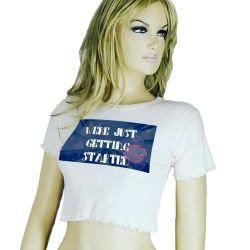 Womens Summer Best Seller Crop Tee- Cropped Top T-Shirt TLS93
