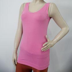 Sleeveless Custom Design Pink Ribbed Cotton Camisole Tanks Tops TLS94