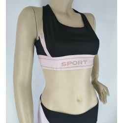 Women's Special Design Fashion Nude Sports Bra and Legging Set TLS98