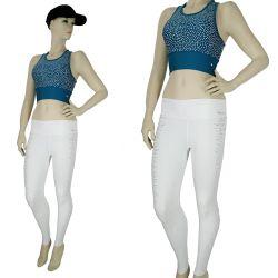 Fashion Reflector Printed Design Workout Sports Bra and Legging Sets TLS100