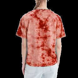 Customizable Tie Die O-Neck Short Sleeve T-Shirt for Ladies TLS192