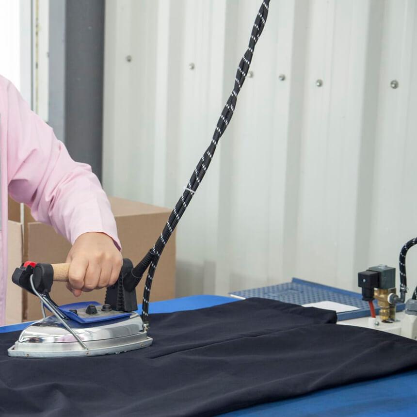 ironing and folding